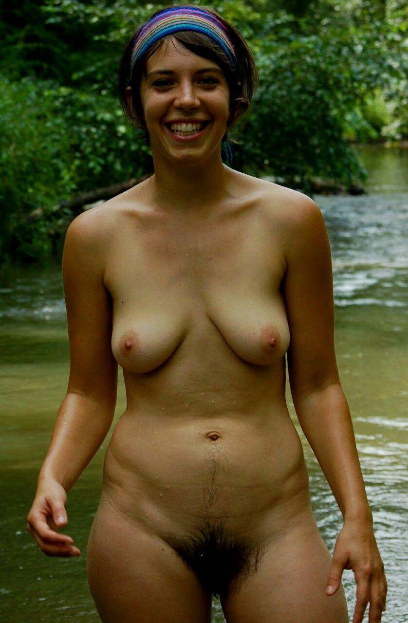 Hairy nude girl everywhere