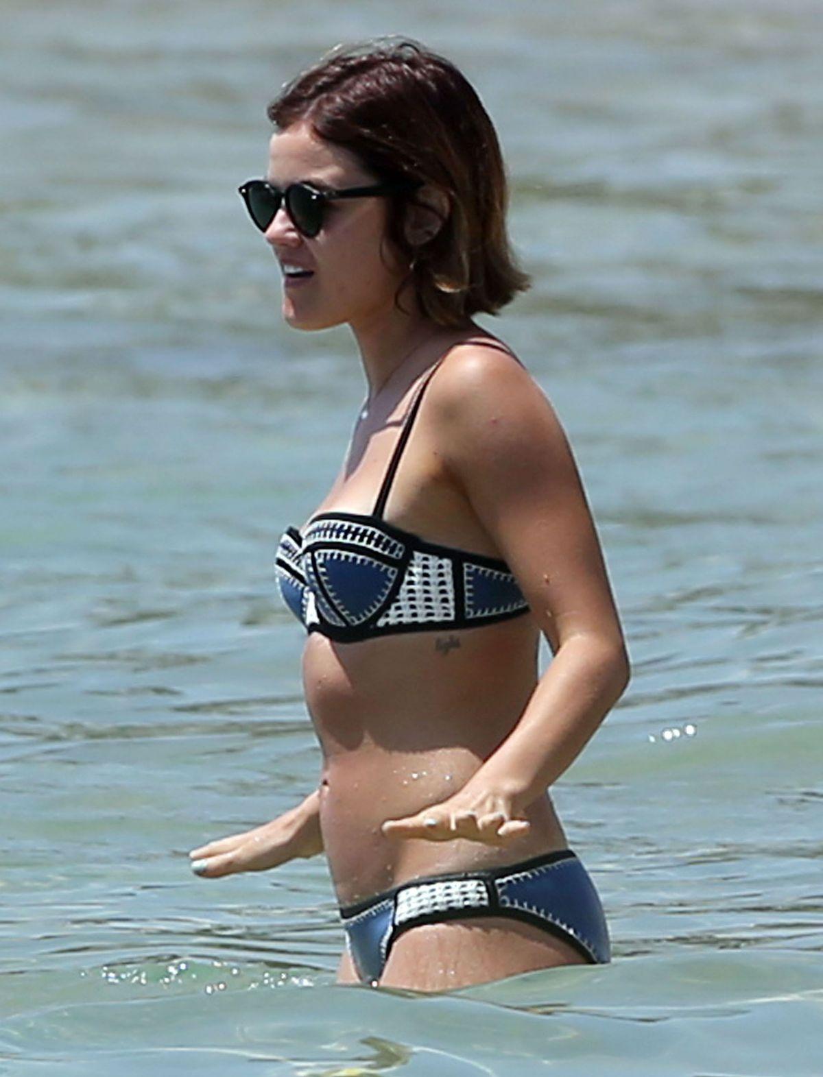 Lucy hale bikini