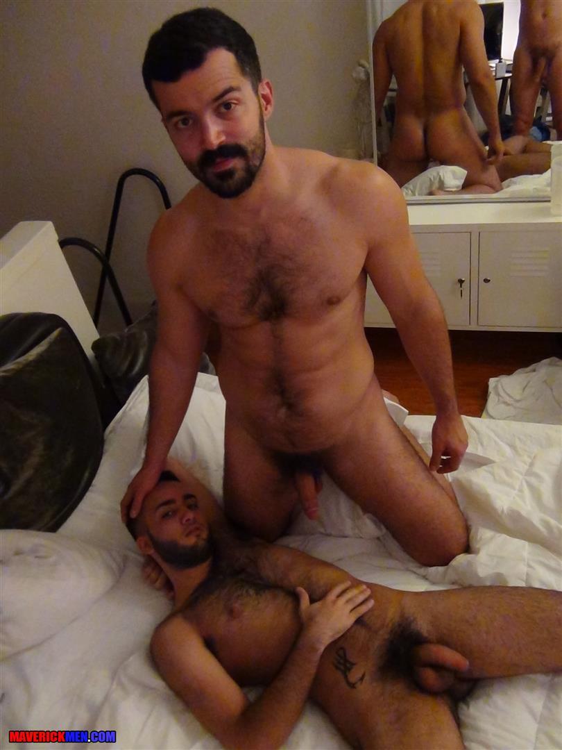 Hairy gay men having sex