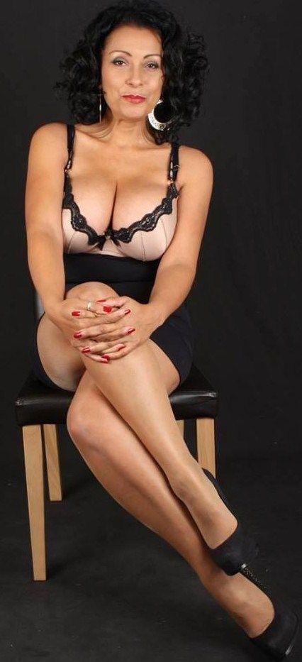 Curvy mature brunette women