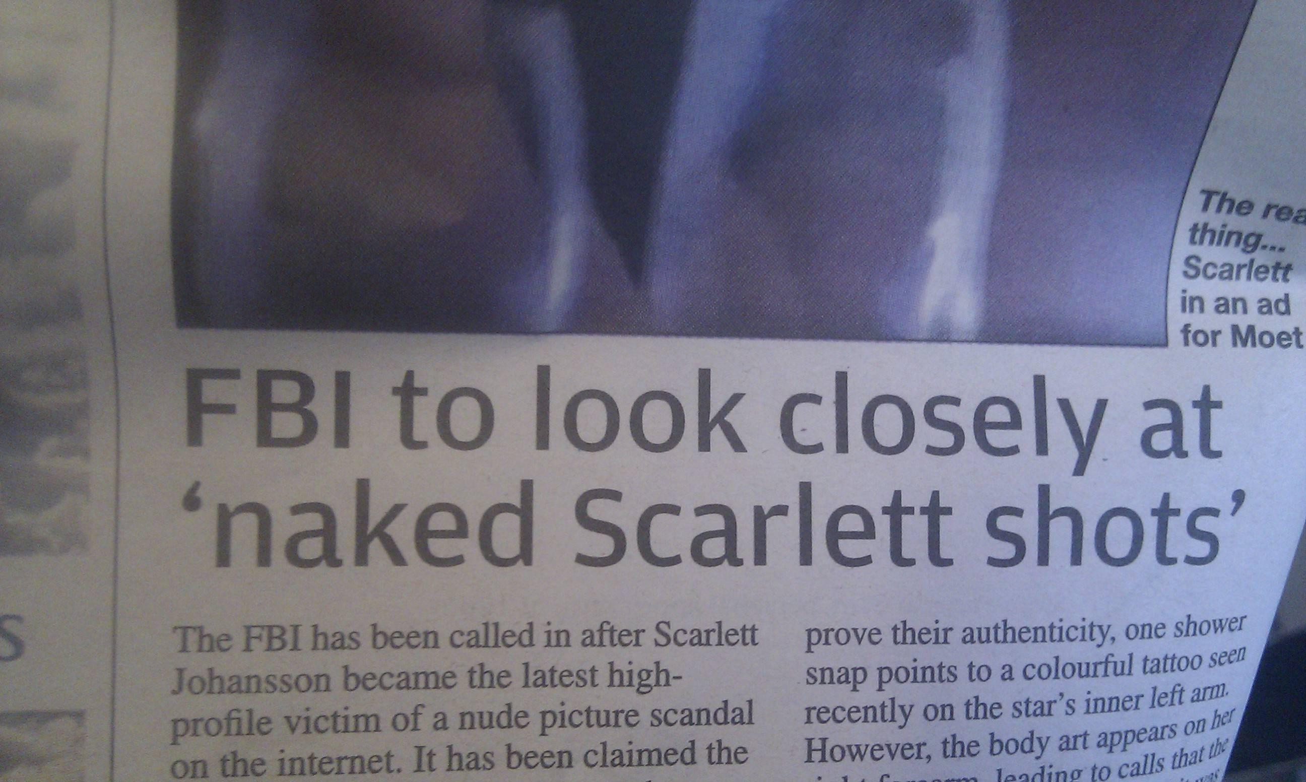 Scarlett johansson hacked nude