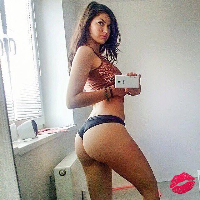 Hot girl ass selfie
