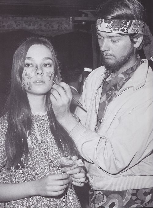hairy hippie sixties Classic girl from the