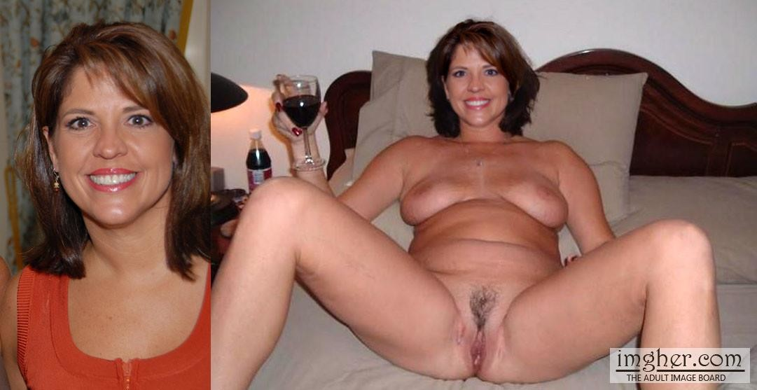 Milf clothed naked wife before after