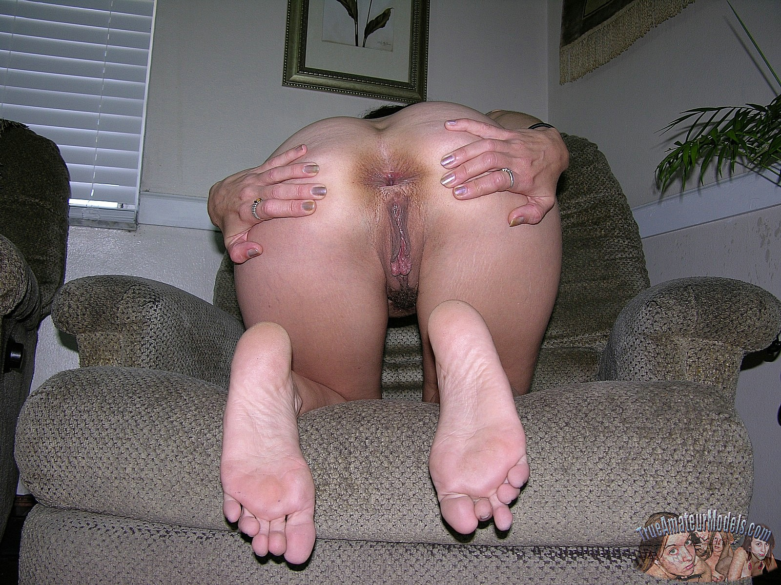amateur ass pussy on chair