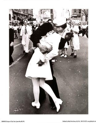 Sailor kisses nurse