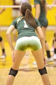 Sexy volleyball girls asses