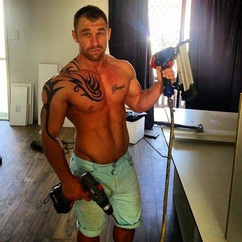 naked Gay handyman