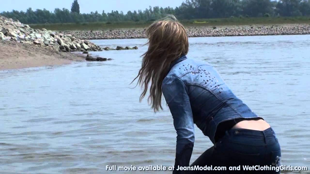 jeans girls in videos Wet and muddy