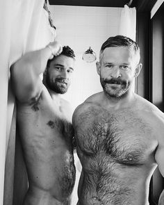Hairy chested gay men having sex
