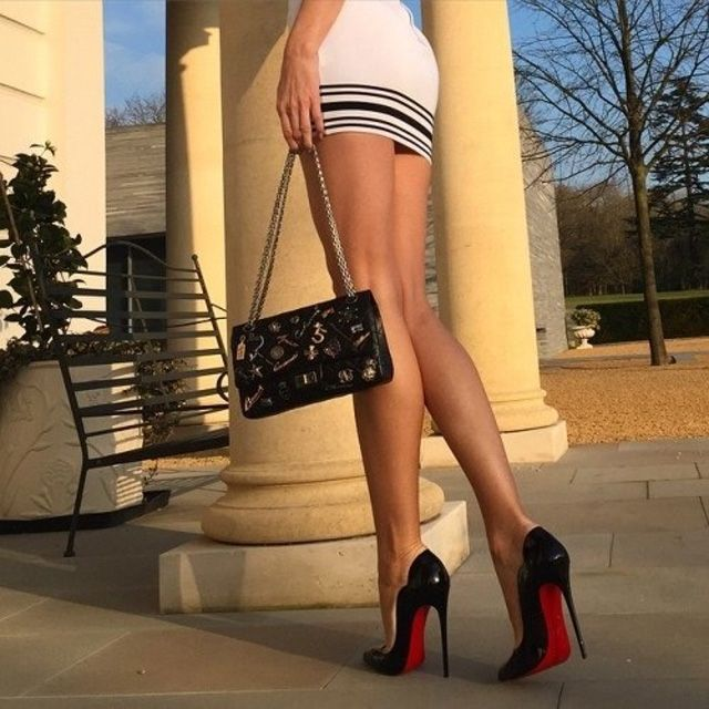 Sexy girls wearing thong high heels