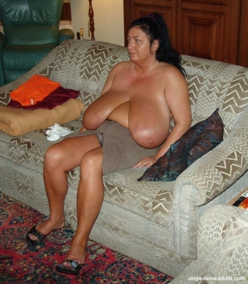 with Mature big tits women saggy