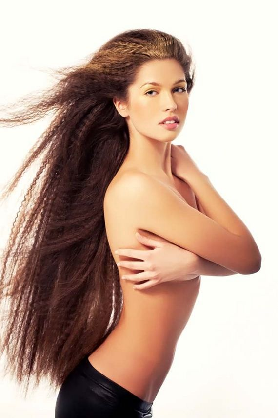 Nude russian girls with long hair