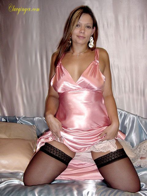 Shiny satin lingerie