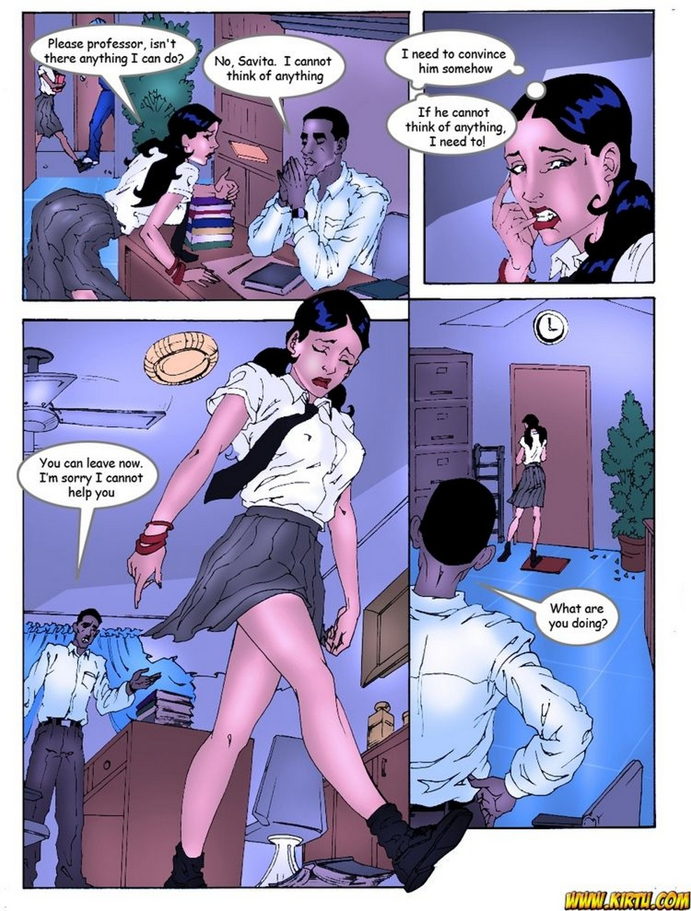 College girl porn comic