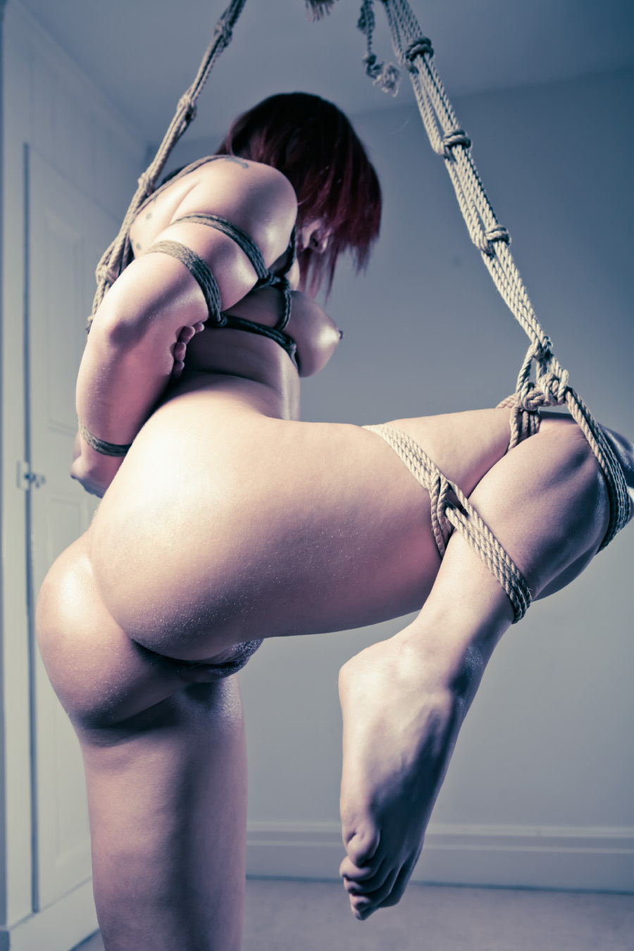 Rope suspension bondage