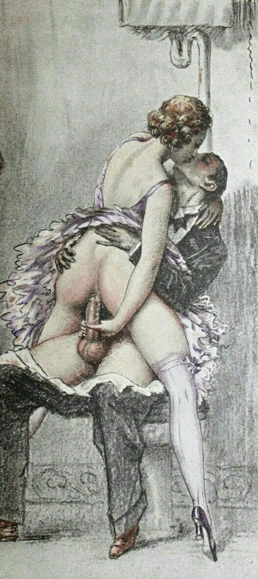 Vintage erotic cartoon sex drawings