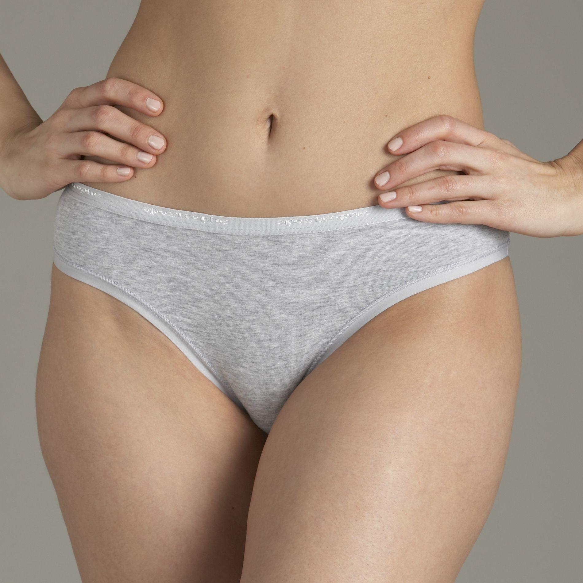 Wet white cotton panties