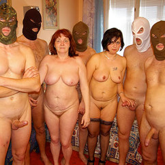 Amateur mature whore gangbang