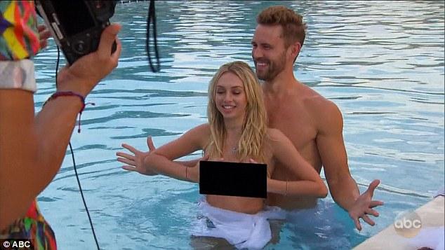 Teens pulling off bikinis