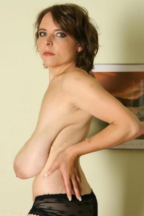 Long saggy hanging tits