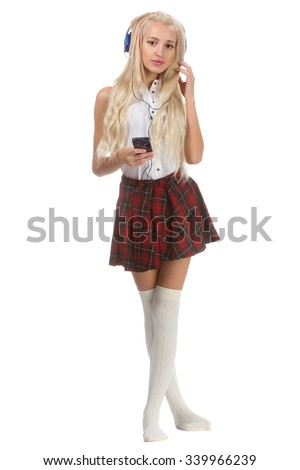 Sexy blonde girl uniform