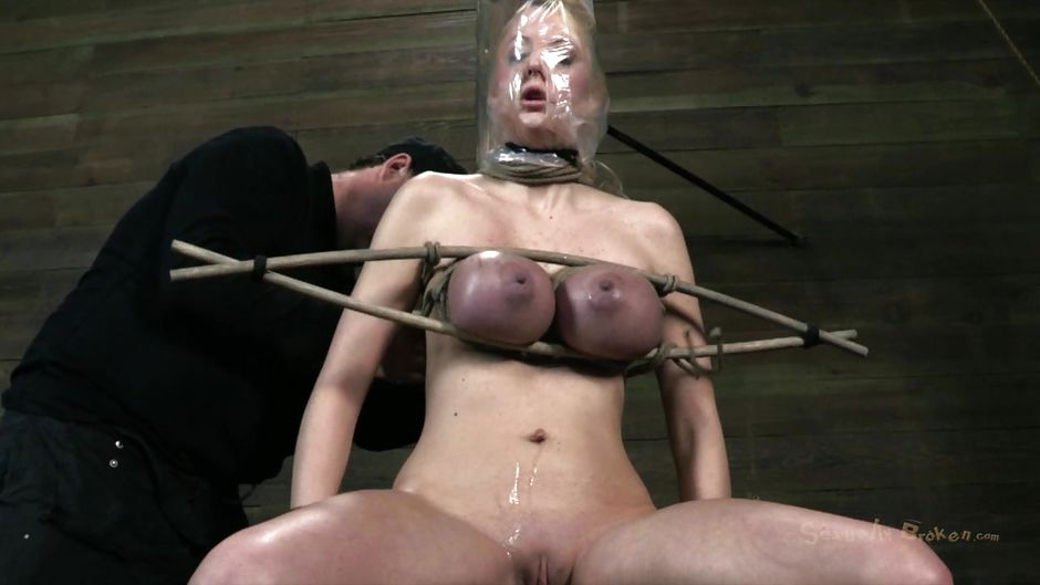 Squeeze tits painful bdsm