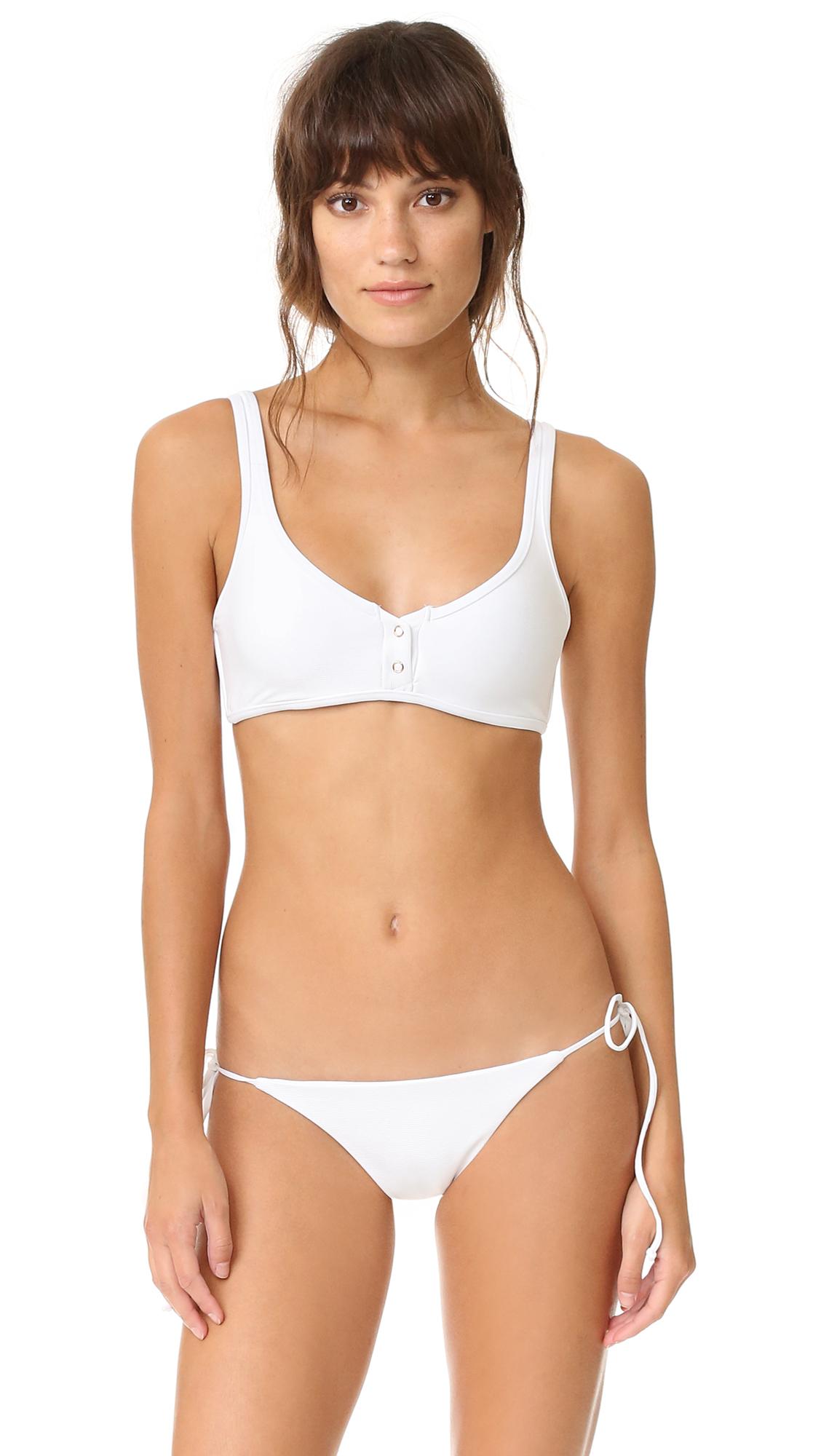 Sandra model white bikini