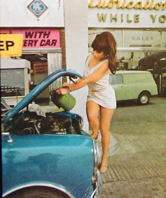 Girl short skirt car
