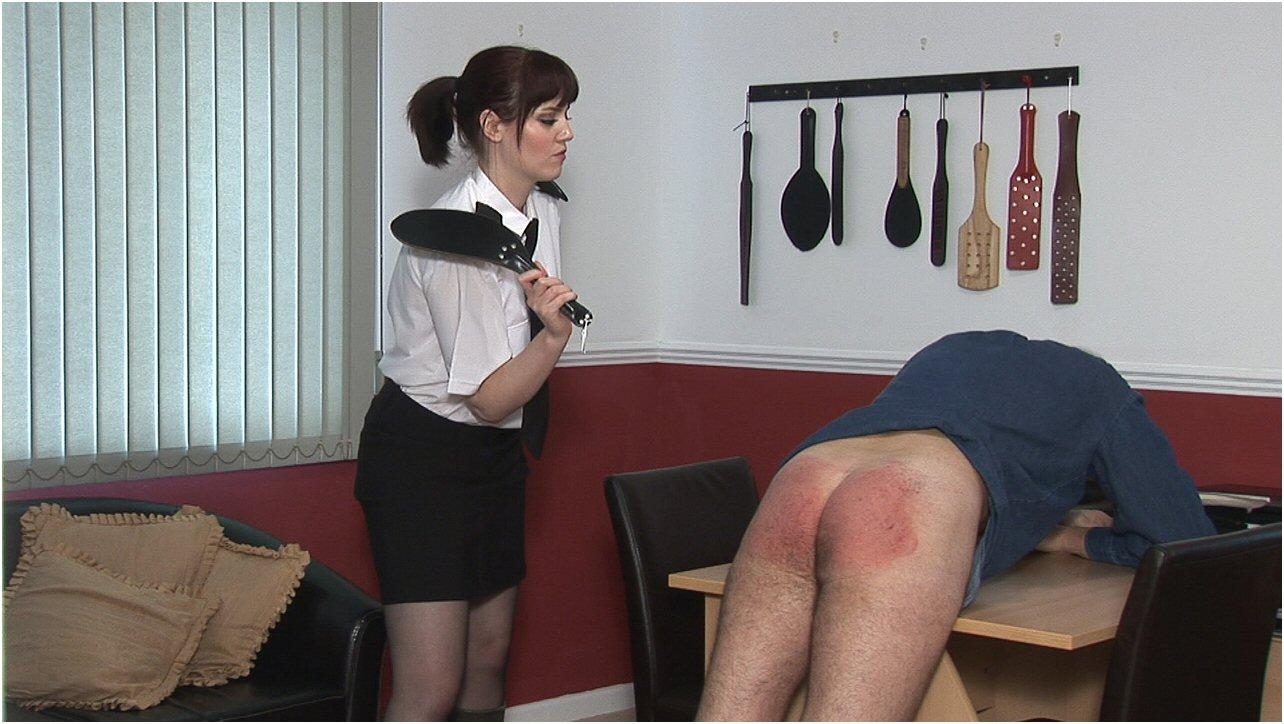 Women spanking men hard