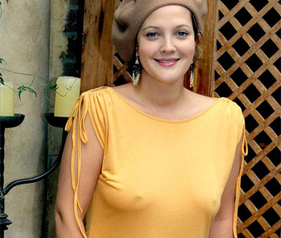 Drew barrymore breasts before