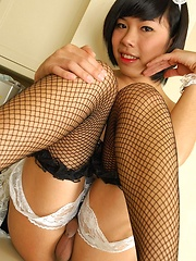 Asian ladyboys pissing