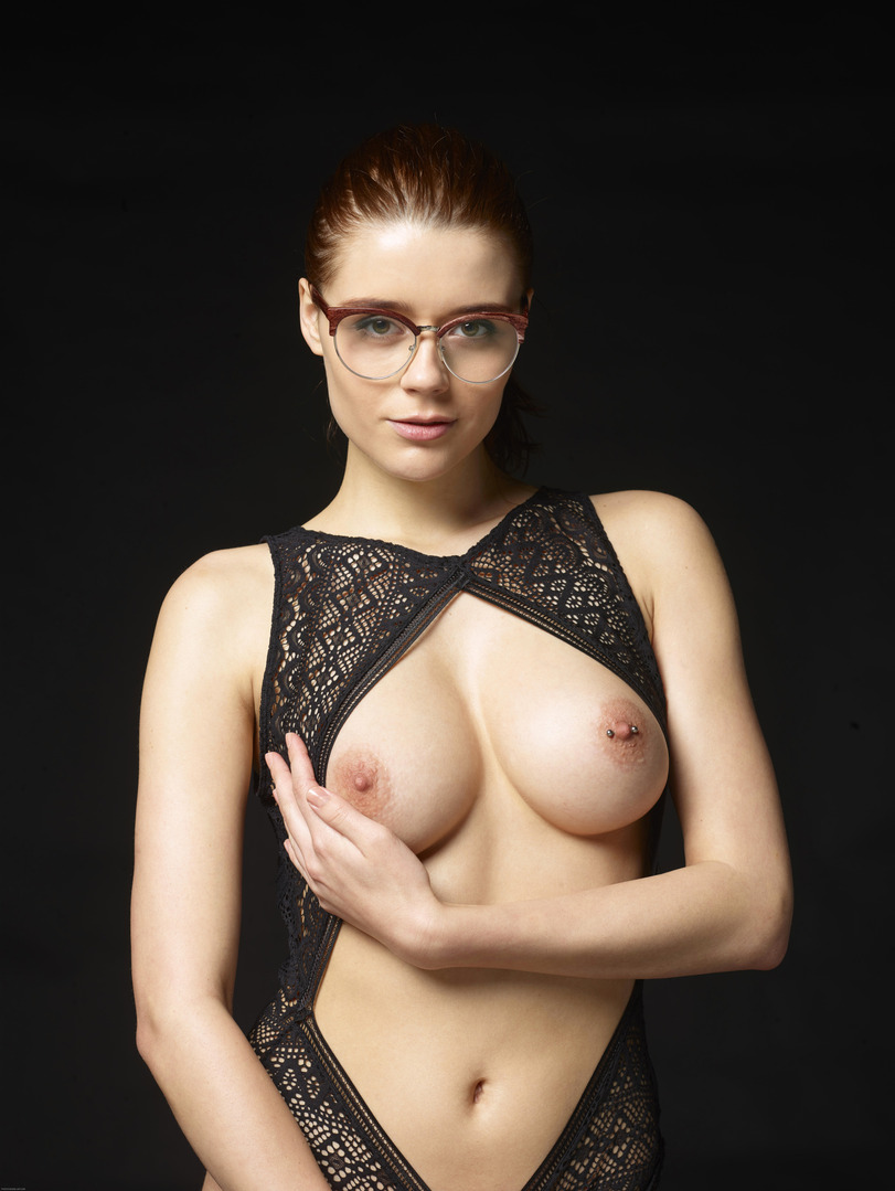 Nude girls with glass
