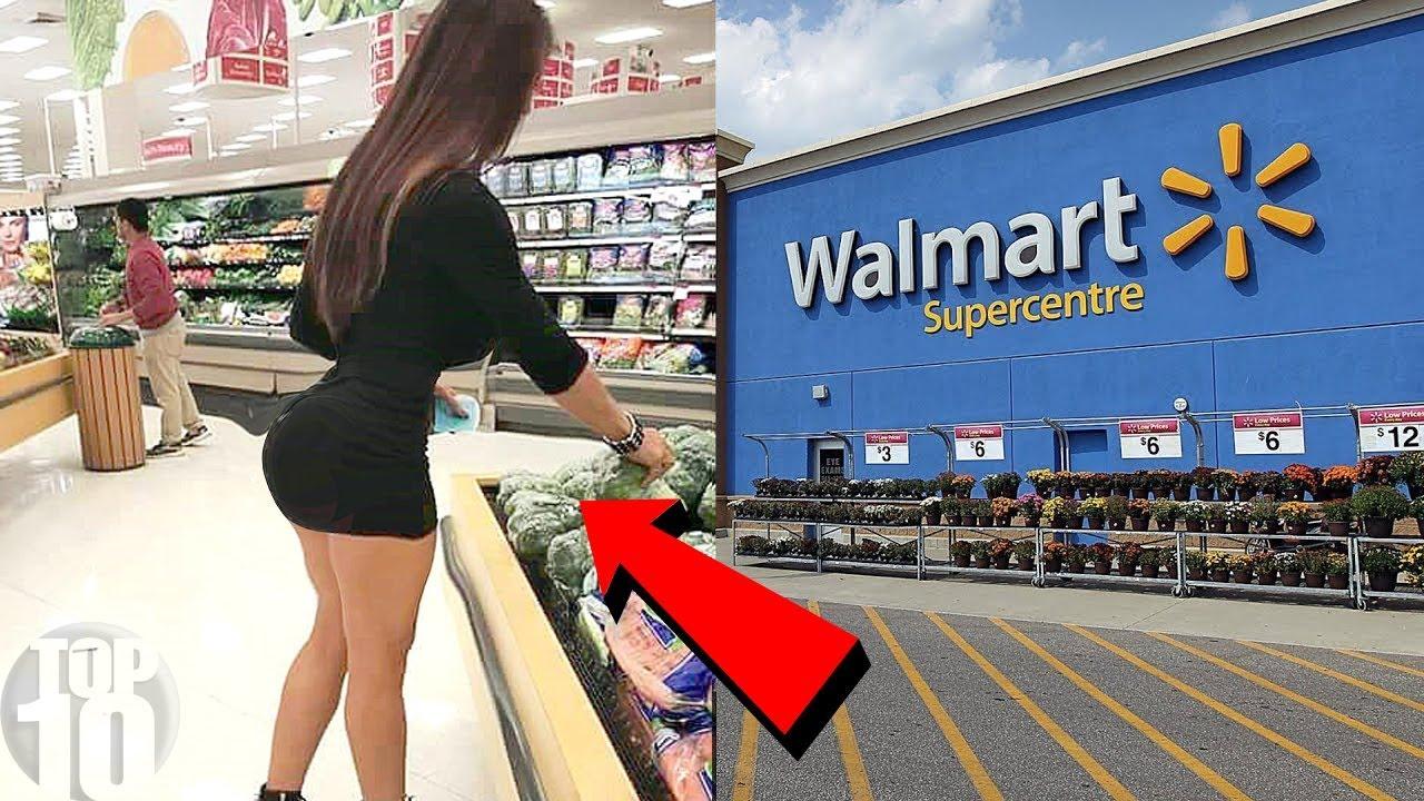 Bent over shopping no panties