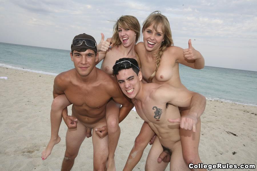 Spring break nude beach men