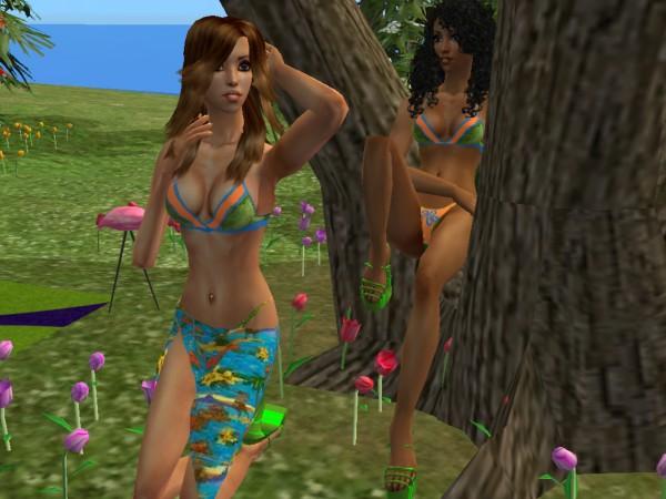 Hot hawaiian girls bikini