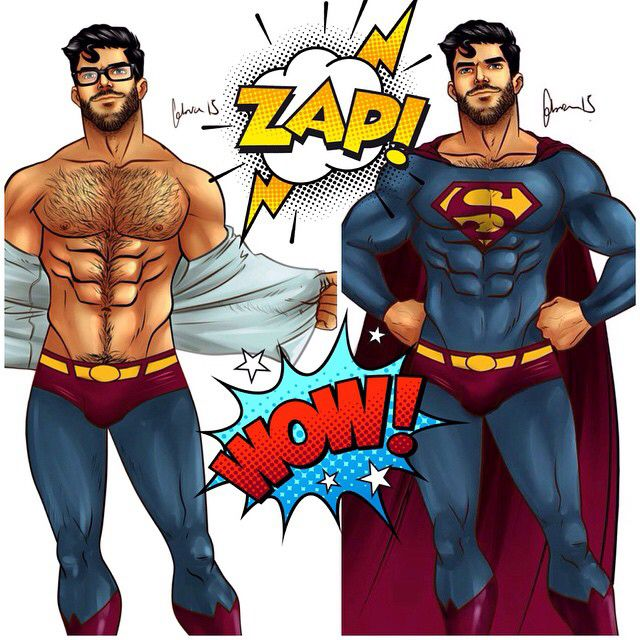 art comic Superman gay