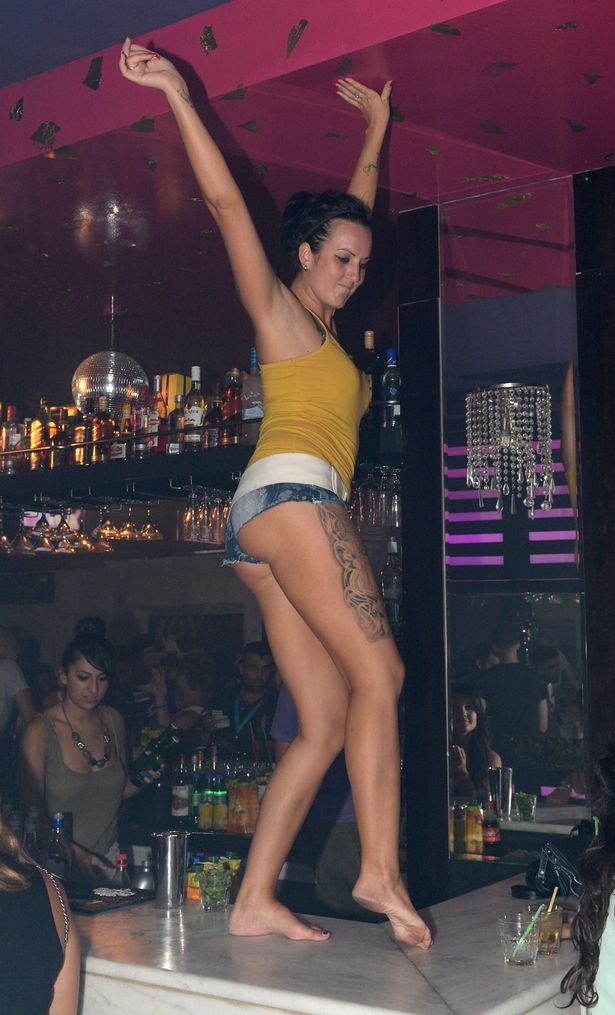 Drunk party girls at strip club sex