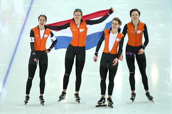 Female speed skaters hot