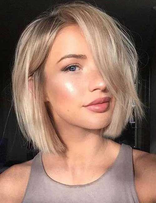 Cute short hair young blonde teen