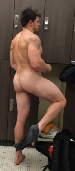 Naked men changing room