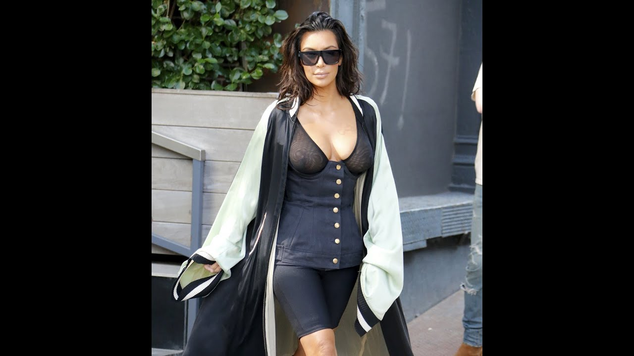 Kim kardashian see through nipples