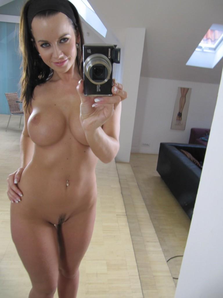 Milf self shot topless