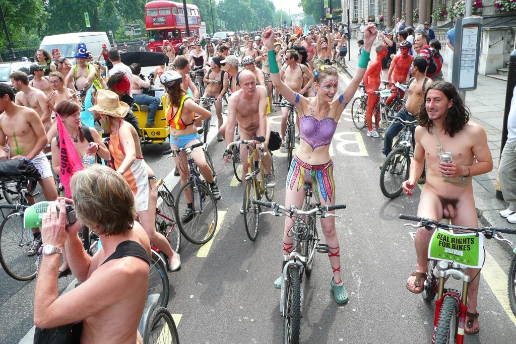 Cfnm naked bike ride