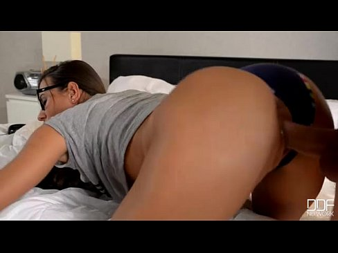 Girl with glasses ass fucked