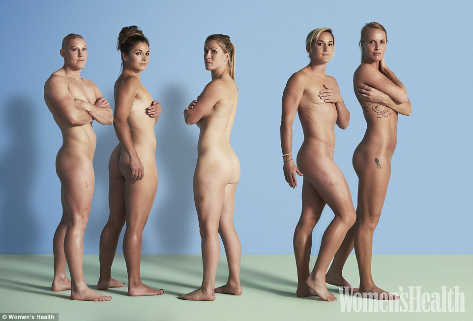 Nude women female athletes