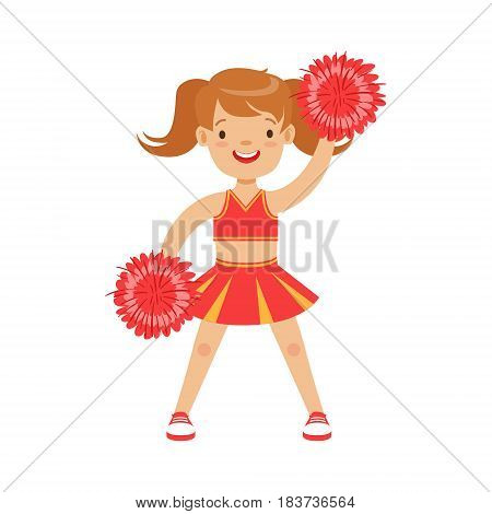 Cartoon girl cheerleader