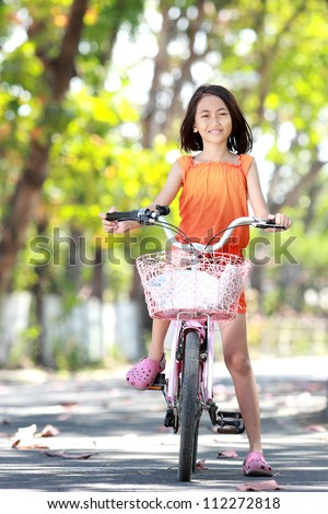 riding bikes girls Cute