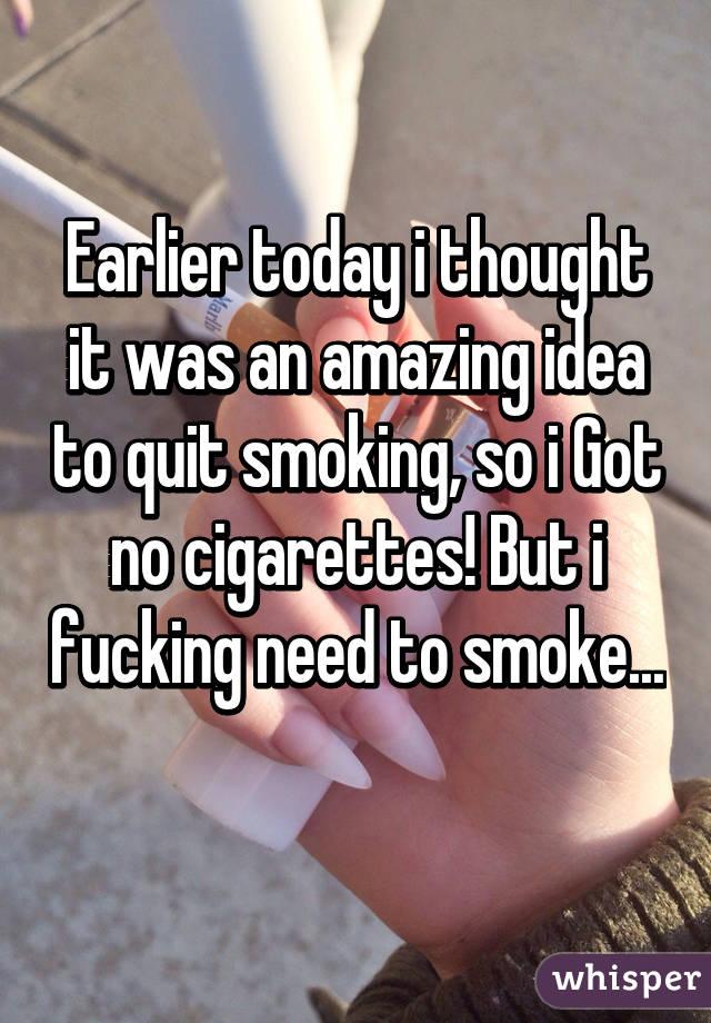 Fucking and smoking cigarettes