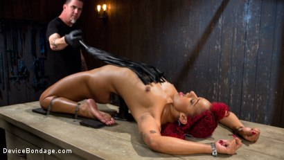 Helpless bondage slut